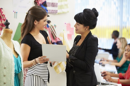 Modedesigner im Gespräch