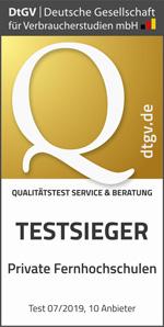 IUBH Qualitätstest Testsieger